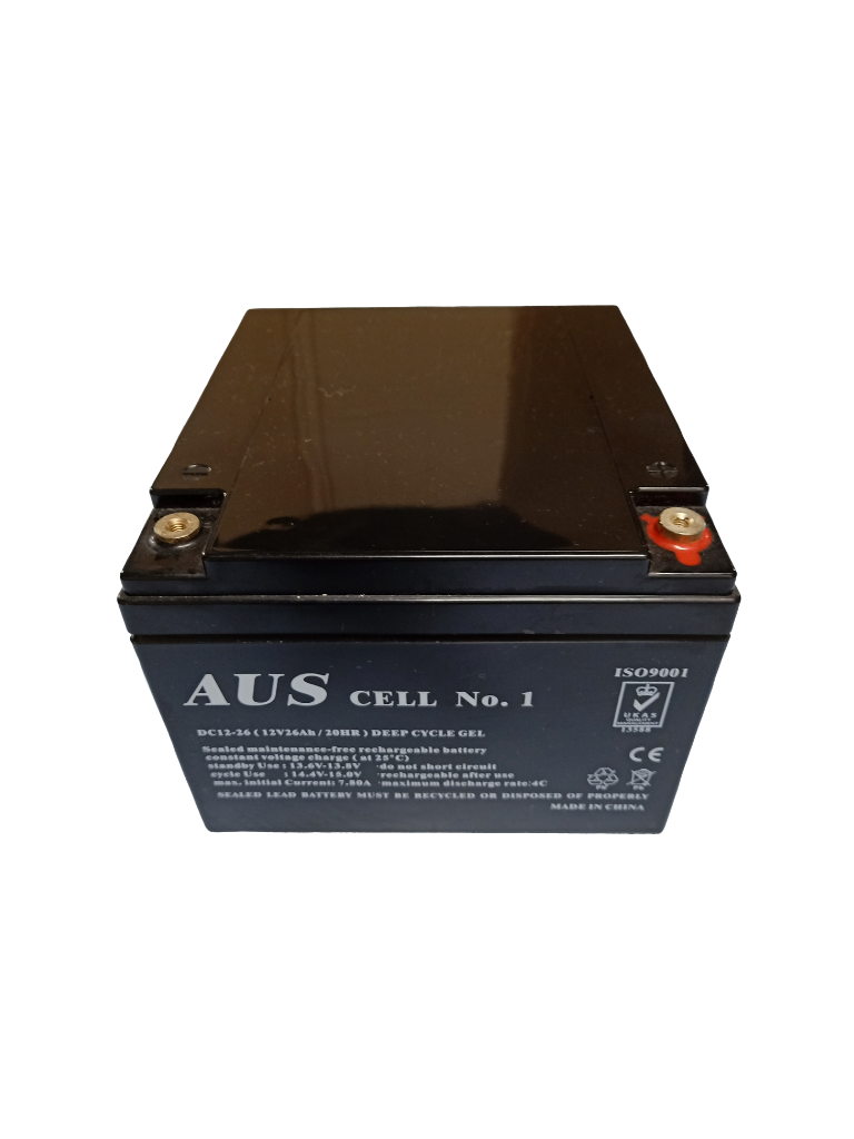 26Ah AGM 12VDC Deep Cycle Lead Acid Battery