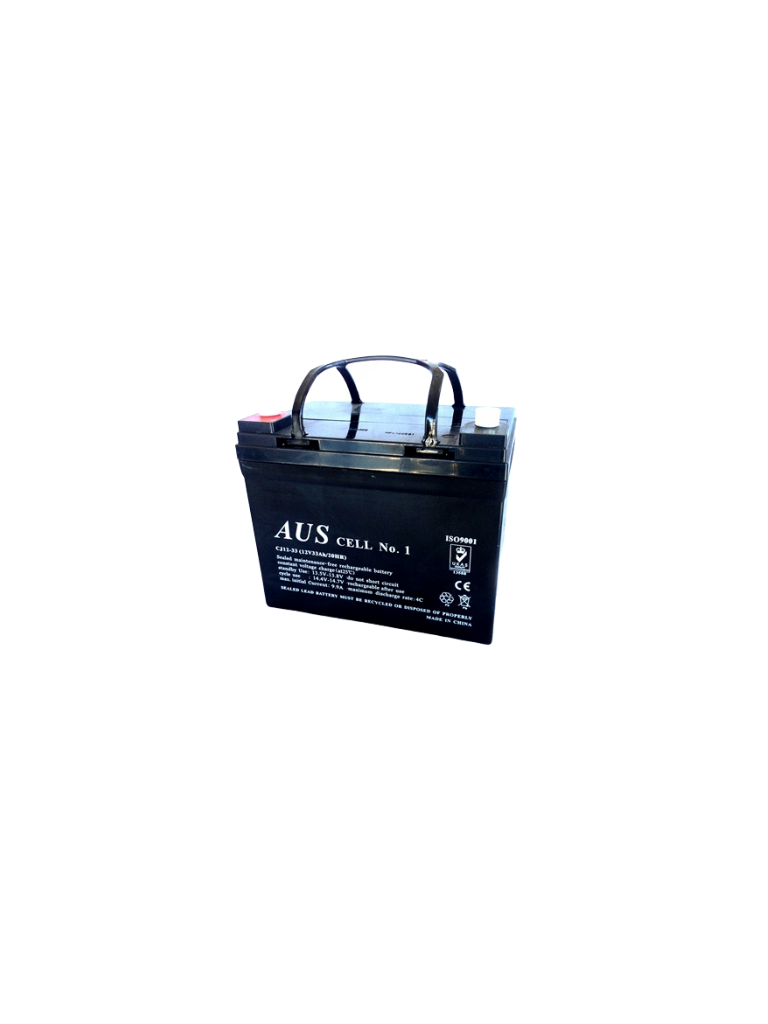 33Ah AGM 12VDC Deep Cycle Lead Acid Battery