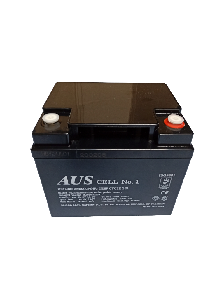 40Ah AGM 12VDC Deep Cycle Lead Acid Battery