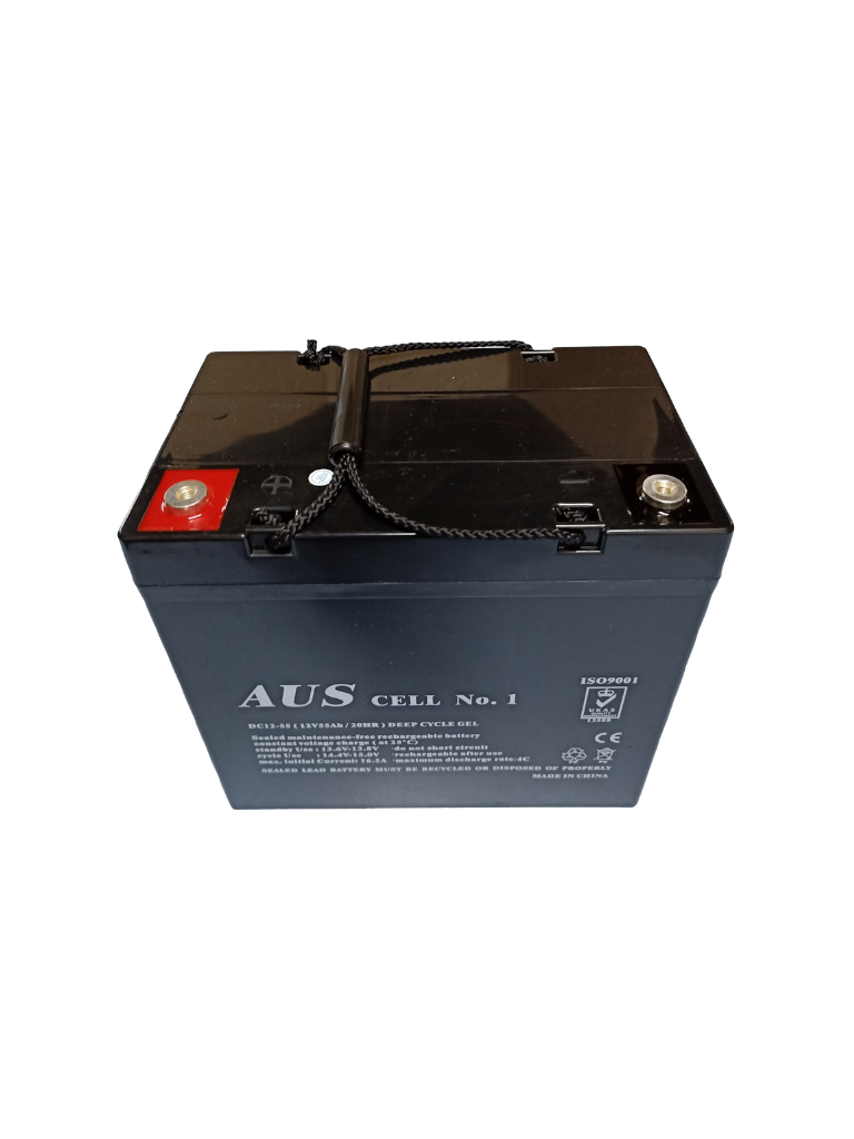 55Ah AGM 12VDC Deep Cycle Lead Acid Battery