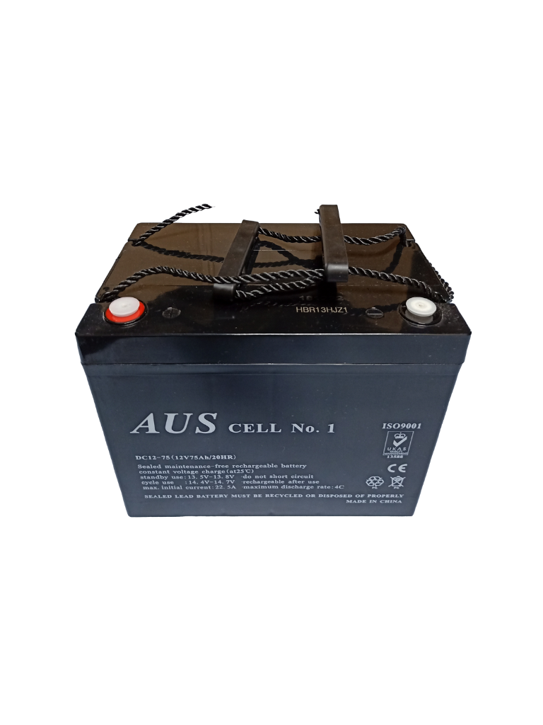 75Ah AGM 12VDC Deep Cycle Lead Acid Battery