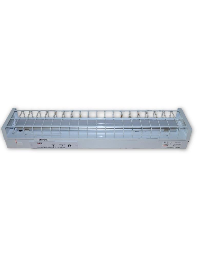4 Foot 1x18W LED EM Batten Light Wire Guard 5000k