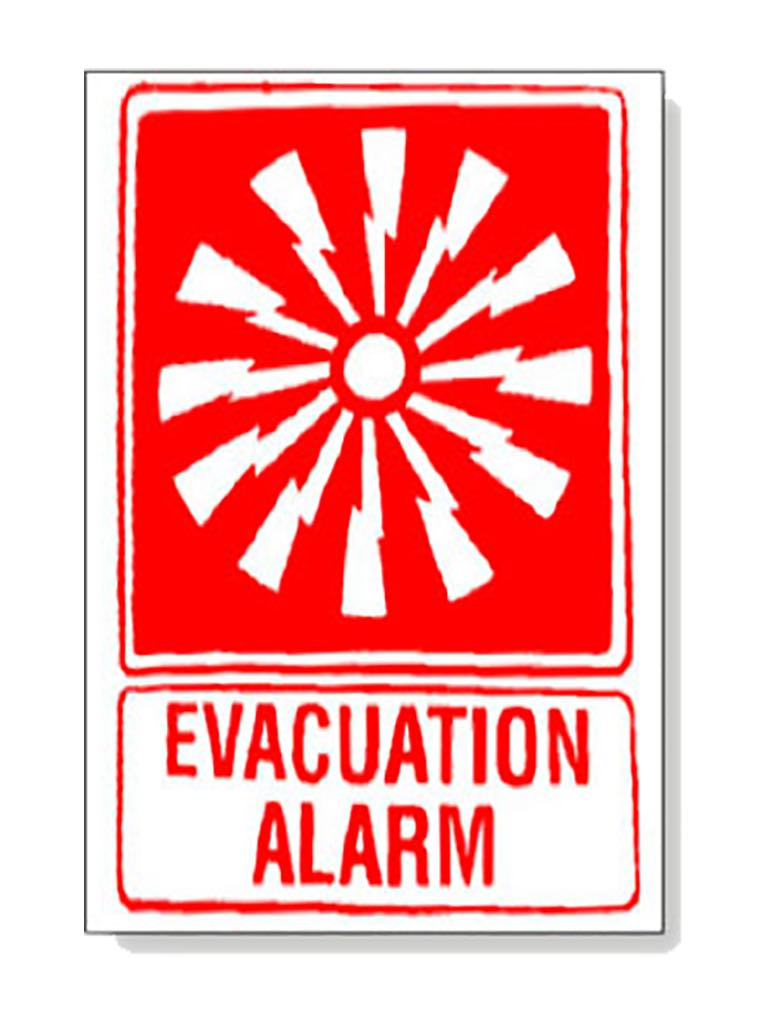 Evacuation Alarm with Pict Sign
