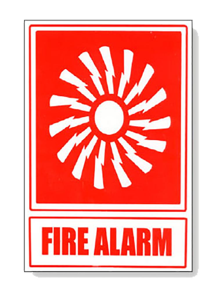 Fire Alarm Pict Sign