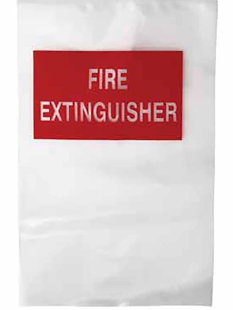 Fire Extinguisher Clear Plastic Cover - Small