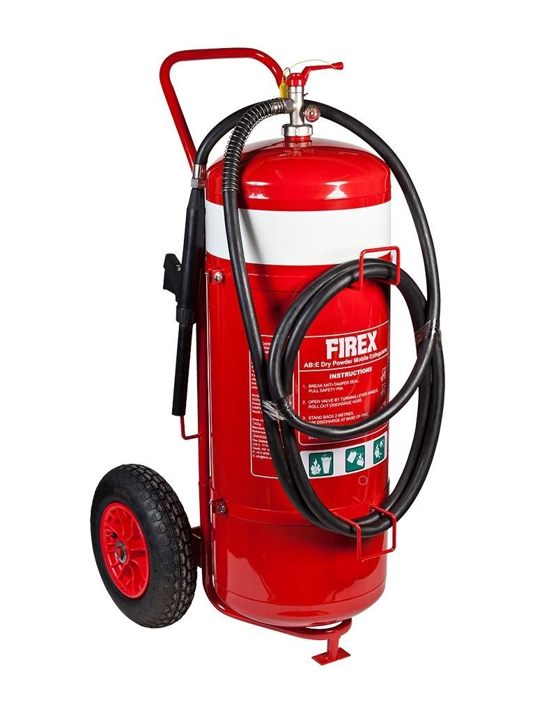 AB:E Dry Powder Mobile Fire Extinguisher
