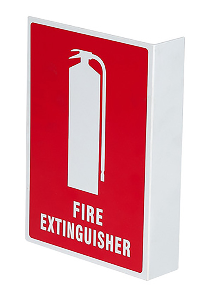 Location Sign - Fire Extinguisher Right Angle - Plastic Medium