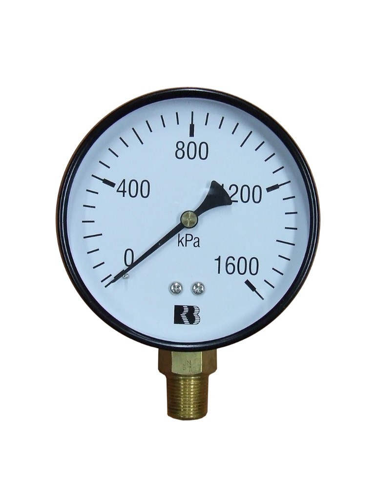 Hydrant Pressure Gauge 1600Kpa Dry - Large (100mm) Lower Entry