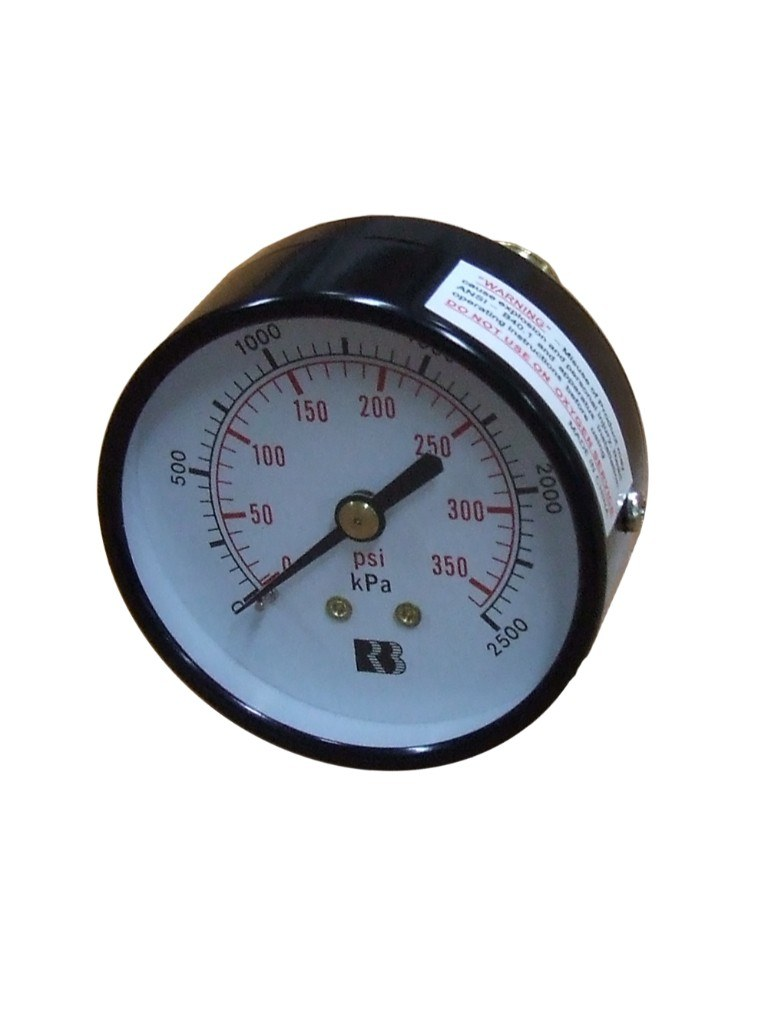 Hydrant Pressure Gauge 1600Kpa Dry - Rear Entry Gauge 63mm