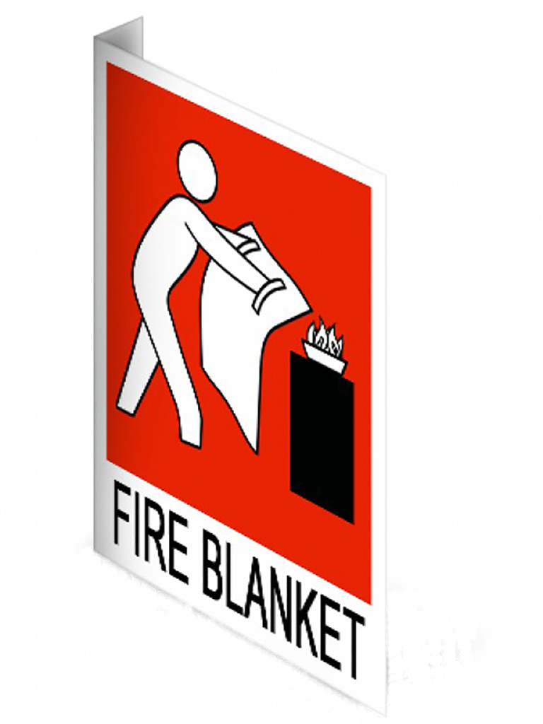Location Sign - Fire Blanket Right Angle - Plastic Small