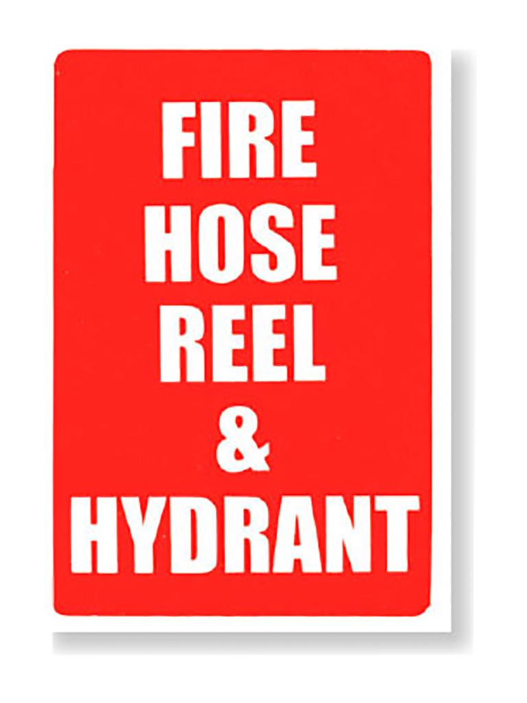 Fire Hose Reel & Hydrant Signs