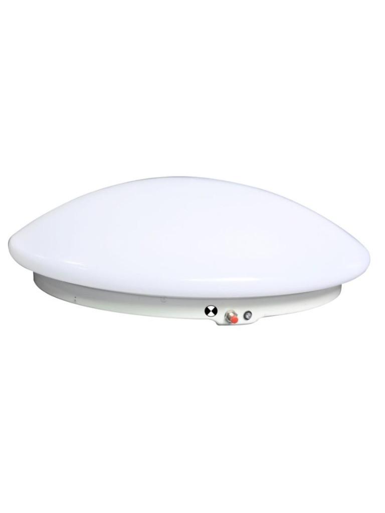 15W LED Oyster EM Slim Light 5000k - Warm White/Cool White
