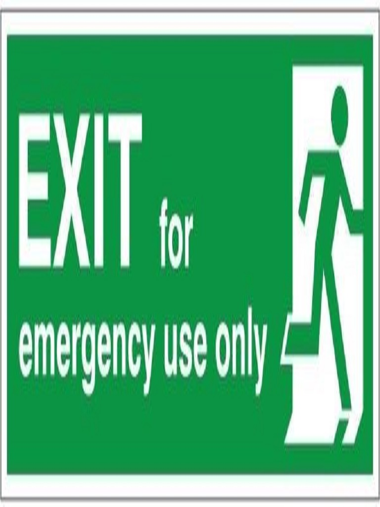 Exit Sign - Exit for Emergency Use Only - Luminous