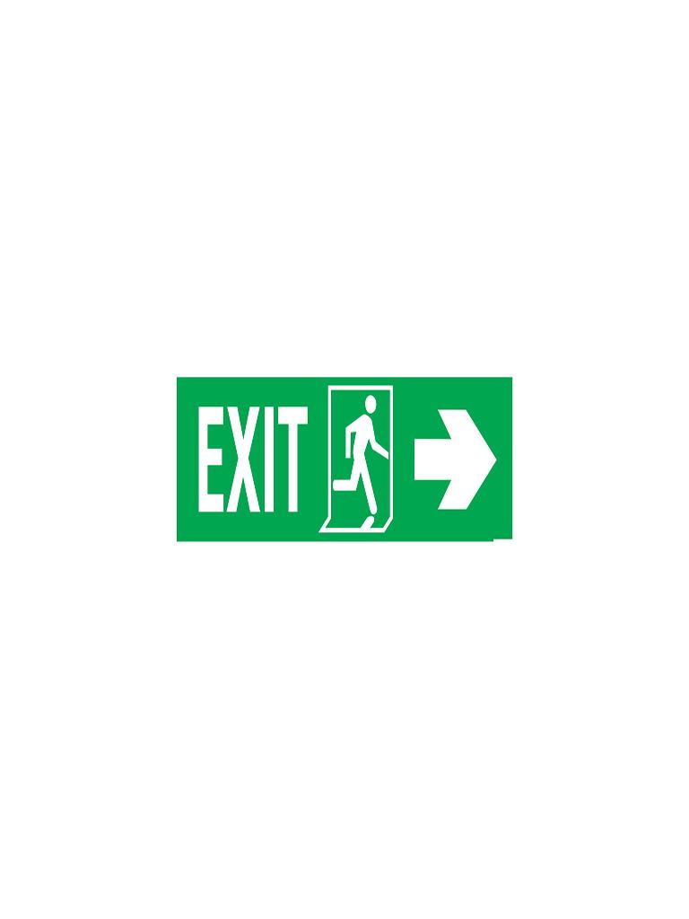 Exit Sign - Right Exit Pict Sign - Luminous
