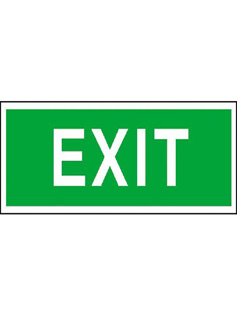 Exit Sign - Green Reflective Large