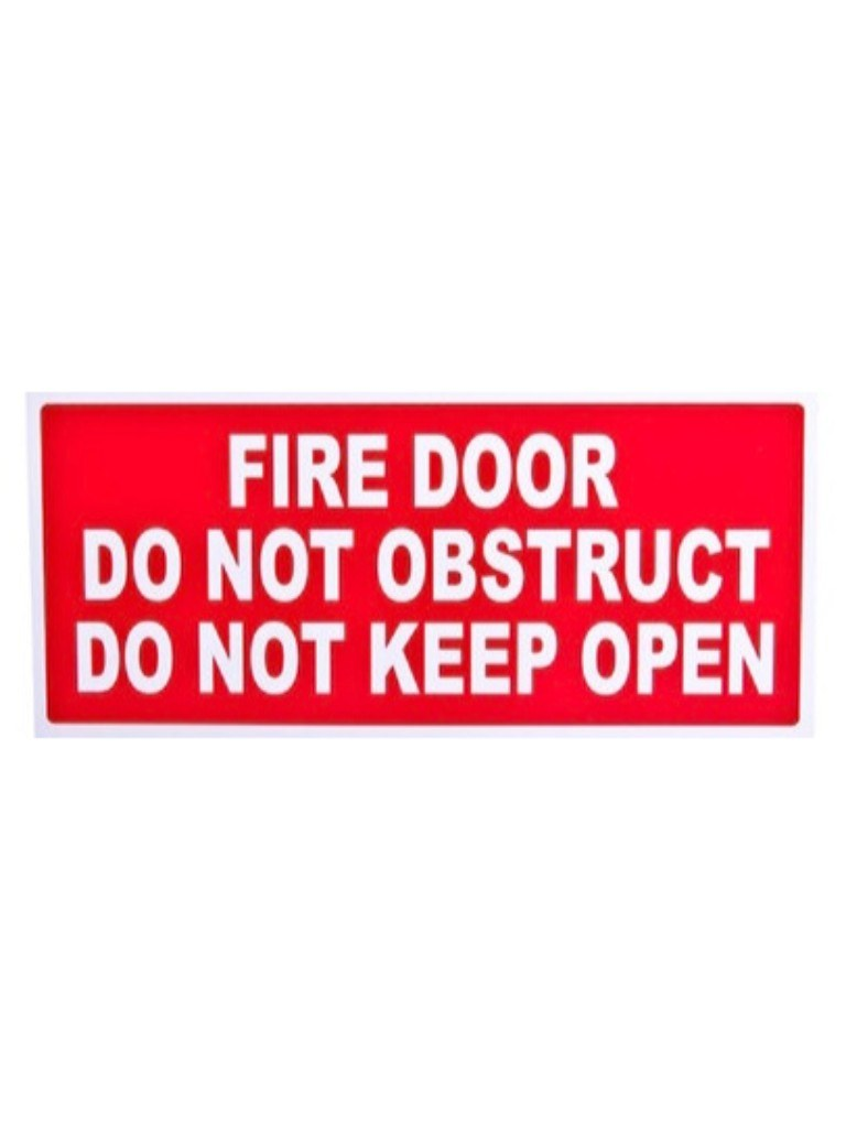 Fire Door Do Not Obstruct Do Not Keep Open - Green Sign