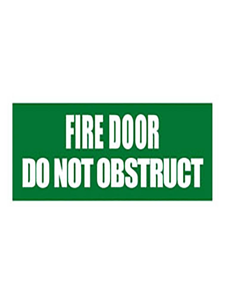 Fire Door Do Not Obstruct - Sticker