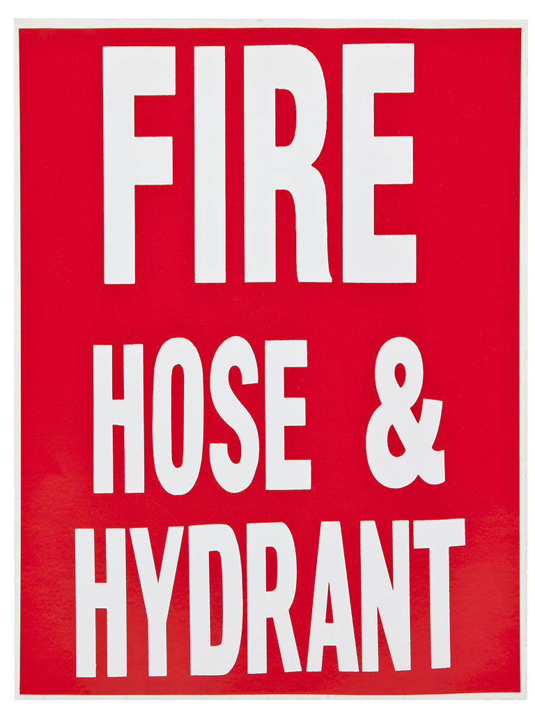 Location Sign - Fire Hose & Hydrant - Sticker