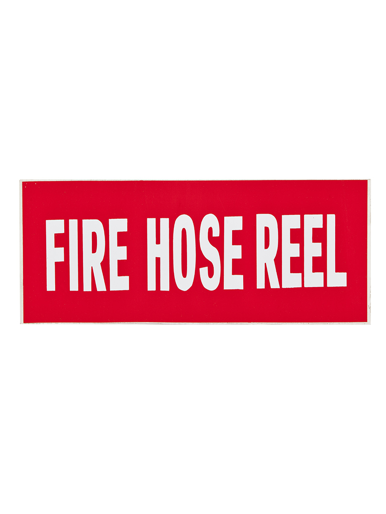 Location Sign - Fire Hose Reel - Sticker Large (text only)