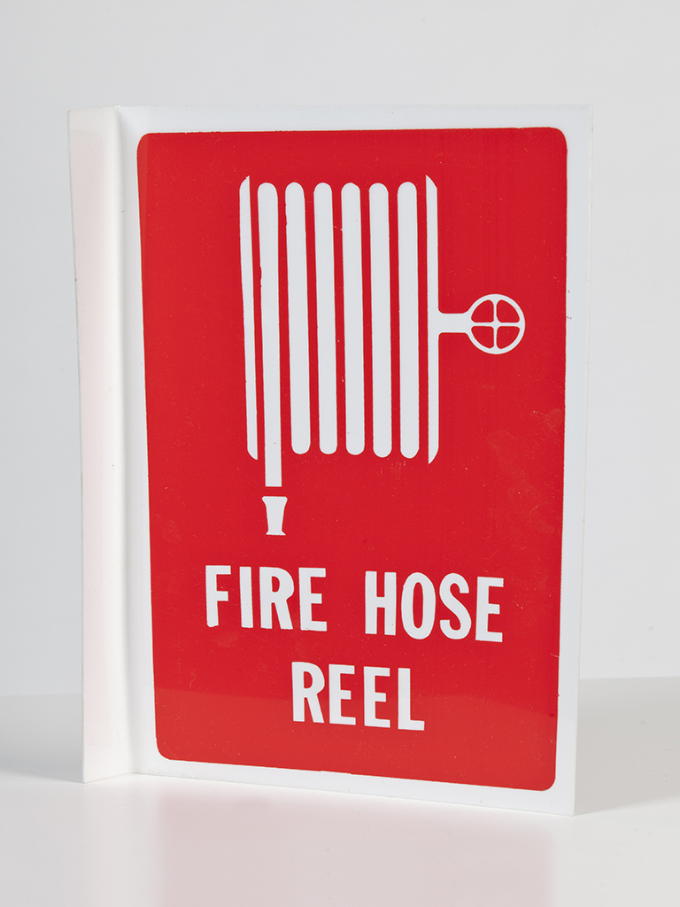 Location Sign - Fire Hose Reel - Right Angle Plastic Small