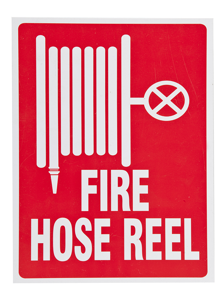 Location Sign - Fire Hose Reel - Sticker Small