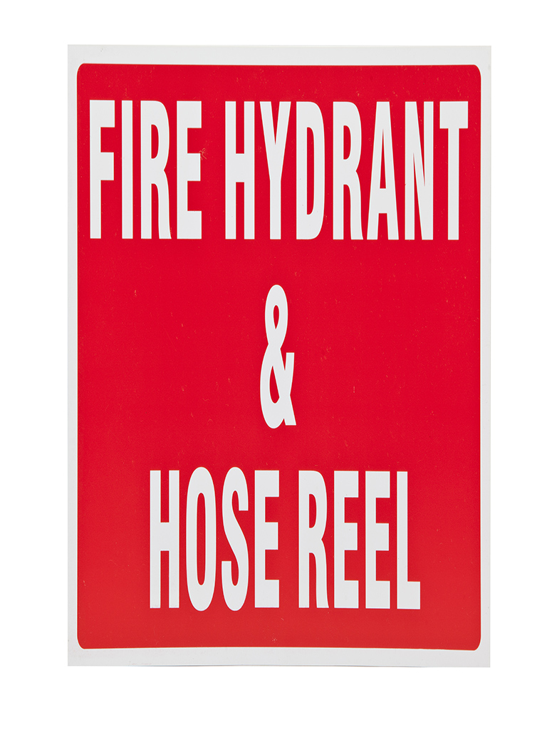 Location Sign - Fire Hydrant & Hose Reel - Plastic