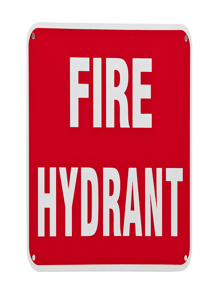Location Sign - Fire Hydrant - Metal
