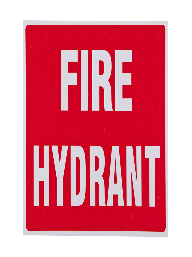 Location Sign - Fire Hydrant - (Med) Plastic