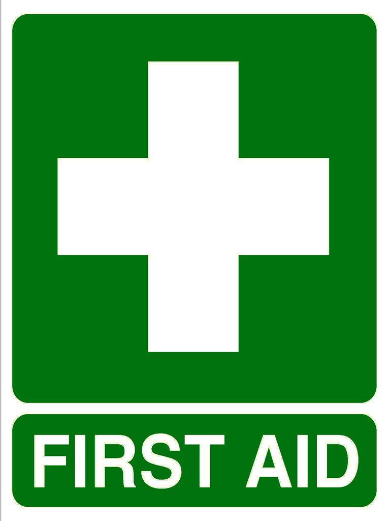 Location Sign - First Aid - Vehicle Sticker