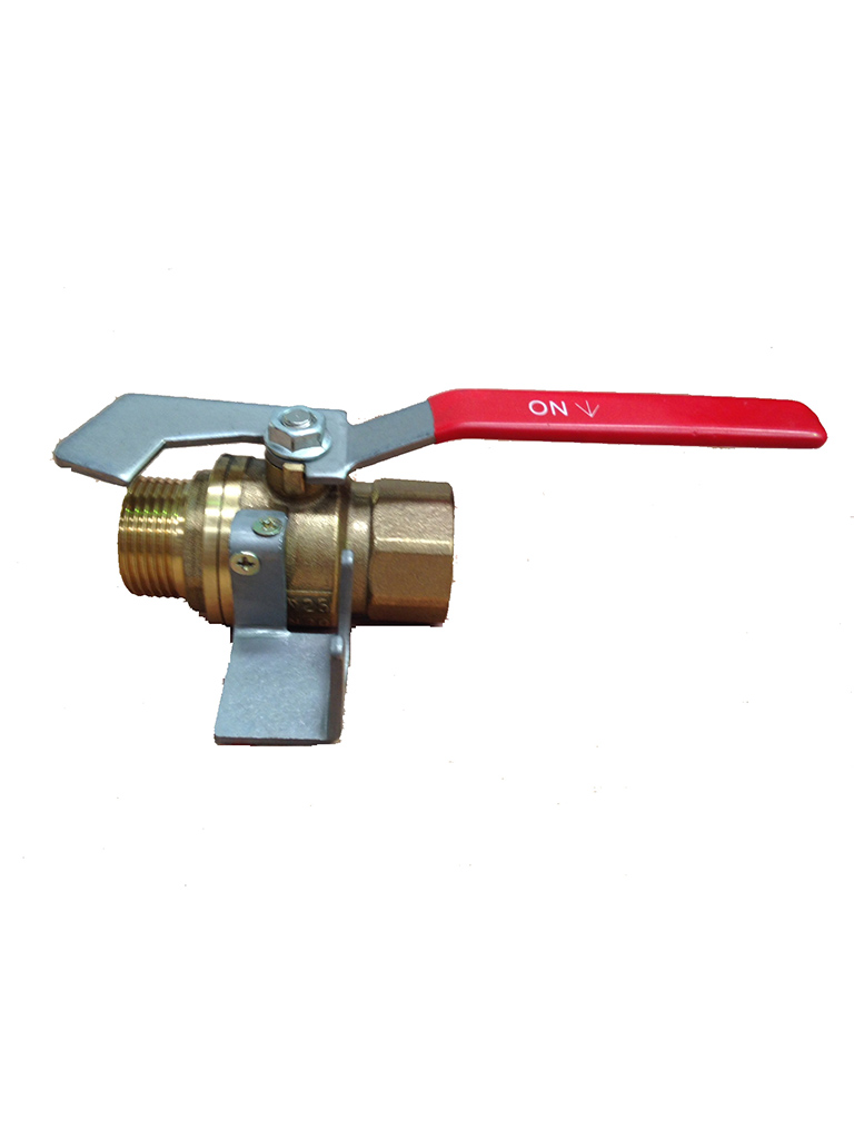 Hose Reel Isolation Valve (25mm BSP M/F) with nozzle retainer