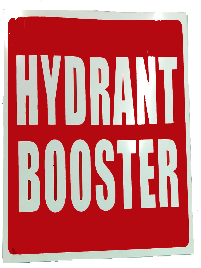 Location Sign - Hydrant Booster - Plastic