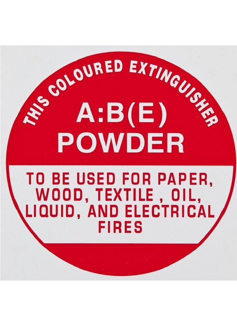ABE Dry Powder - Identification Sign - Sticker
