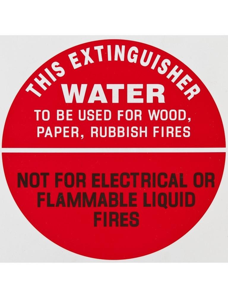 Air Water - Identification Sign Sticker