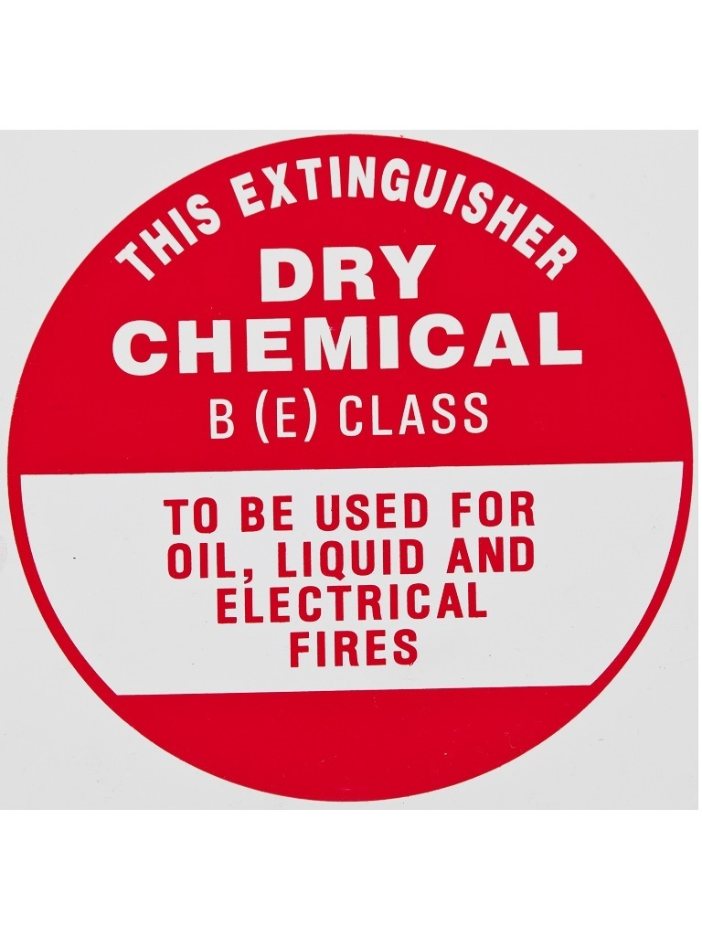 BE Dry Powder - Identification Sign Metal