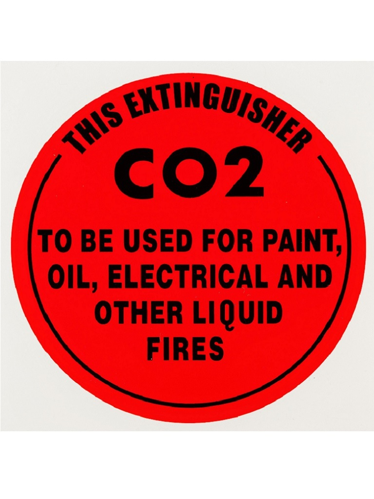 CO2 - Identification Sign Plastic