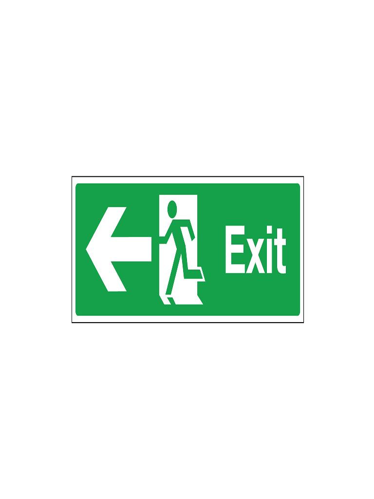 Exit Sign - Left Exit Pict Sign - Luminous
