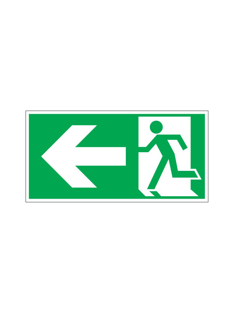Exit Sign - Left Pict - Luminous