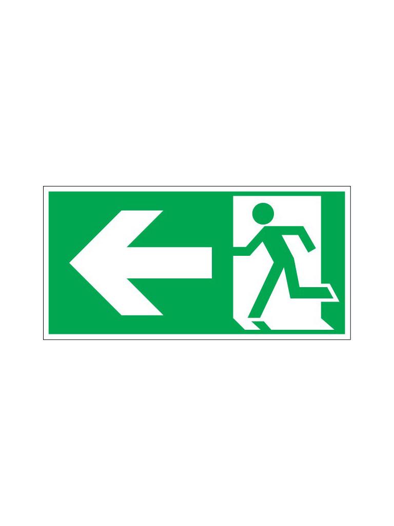Exit Sign - Left Pict - Luminous