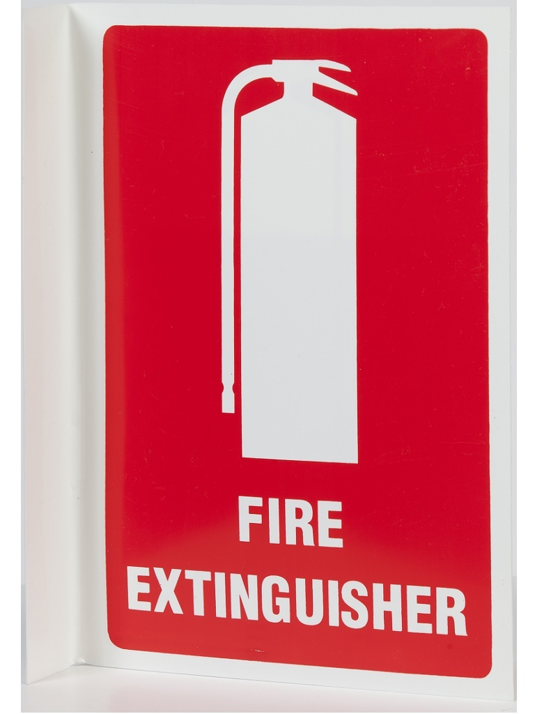 Location Signs - Fire Extinguisher Right Angle - Metal