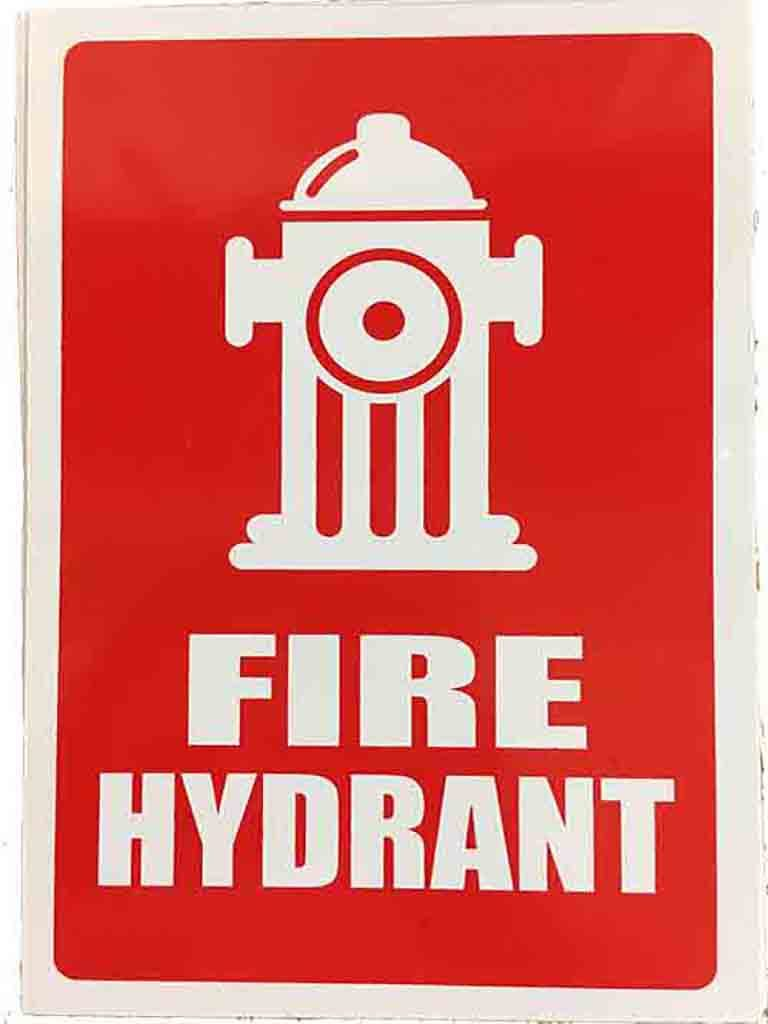 Location Sign - Fire Hydrant (words and pictorial) - (Sml) Plastic